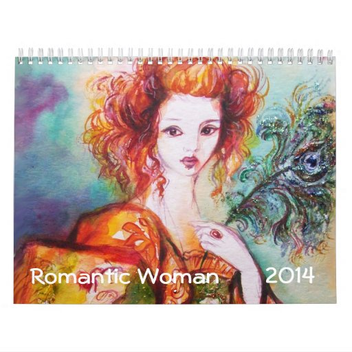 ROMANTIC WOMAN PAINTINGS 2014 FINE ART COLLECTION WALL CALENDAR