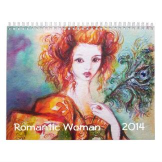 ROMANTIC WOMAN PAINTINGS 2014 FINE ART COLLECTION CALENDAR