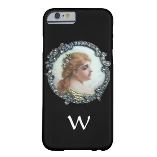 ROMANTIC WOMAN WITH DIAMOND FLOWERS VINTAGE ENAMEL BARELY THERE iPhone 6 CASE