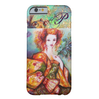 ROMANTIC WOMAN WITH SPARKLING PEACOCK FEATHER BARELY THERE iPhone 6 CASE