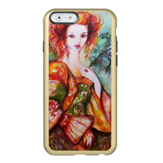ROMANTIC WOMAN WITH SPARKLING PEACOCK FEATHER INCIPIO FEATHER SHINE iPhone 6 CASE