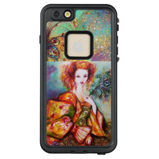 ROMANTIC WOMAN WITH SPARKLING PEACOCK FEATHER LifeProof FRĒ iPhone 6/6S PLUS CASE