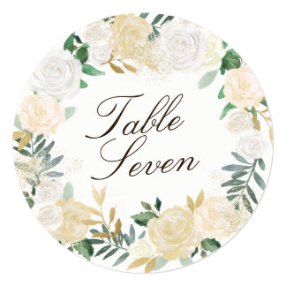 Romantic Woodland  Round Table Number Cards