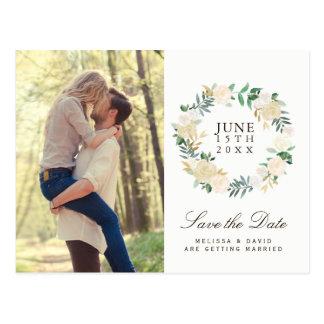 Romantic Woodland Save the Date Postcard