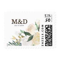 Romantic Woodland Wedding Postage