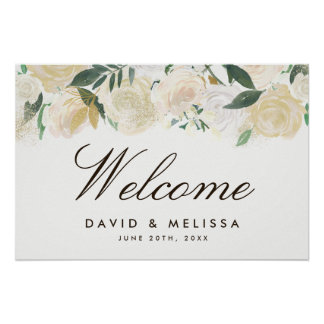 Romantic Woodland Wedding Welcome Sign