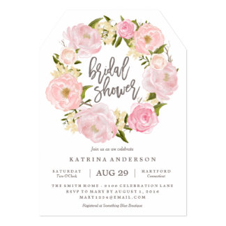 Romantic Wreath Bridal Shower Invitation