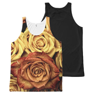 Romantic yellow Rose Top All-Over Print Tank Top