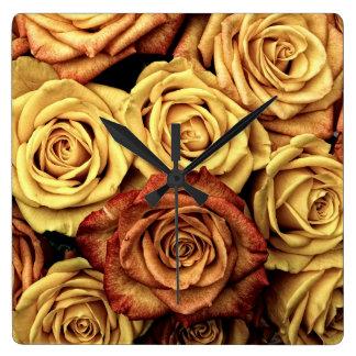 Romantic yellow Rose Wall Clock