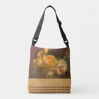 Romantic Yellow Roses Design Cross Body Bag