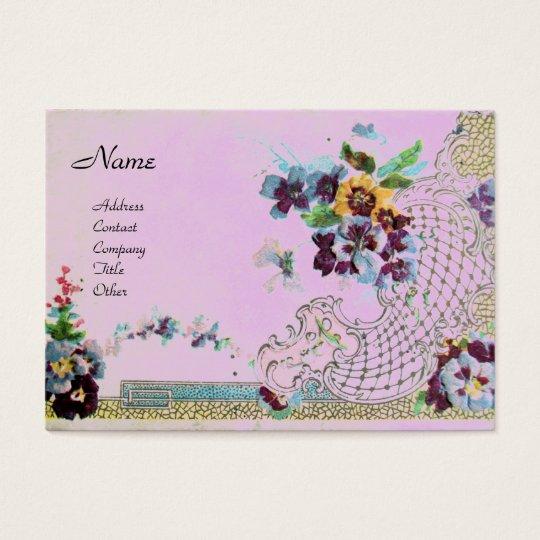 ROMANTICA 2 Monogram violet pink Business Card