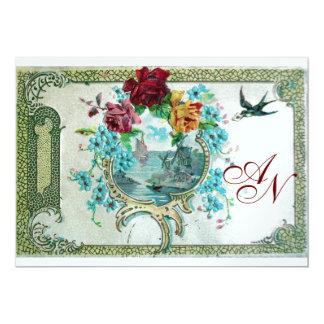 ROMANTİCA 3 MONOGRAM white ice metallic paper 5x7 Paper Invitation Card