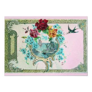 ROMANTICA 3 ,pink gold metallic Card