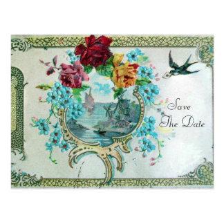 ROMANTICA 3 SAVE THE DATE  Invitation postcard