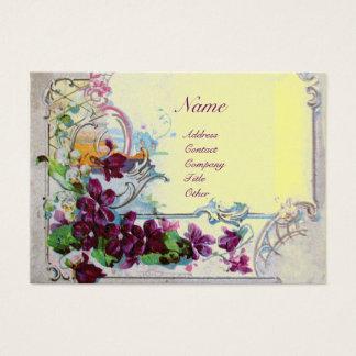 ROMANTICA 4 ,gold metallic  yellow violet purple Business Card