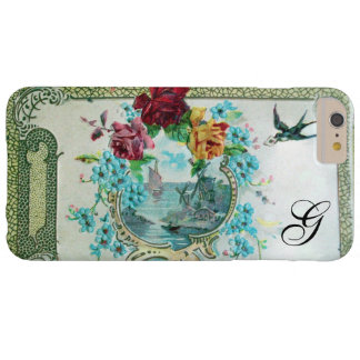 ROMANTICA FLORAL MONOGRAM ROSES AND FLYING BIRD BARELY THERE iPhone 6 PLUS CASE