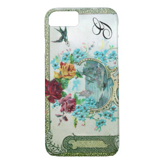 ROMANTICA FLORAL MONOGRAM ROSES AND FLYING BIRD iPhone 7 CASE