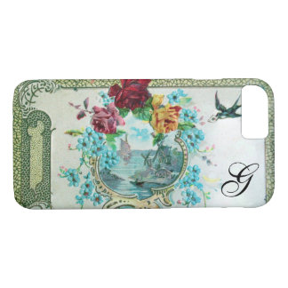 ROMANTICA FLORAL MONOGRAM ROSES AND FLYING BIRD iPhone 8/7 CASE