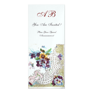 ROMANTİCA Pink Blue White Floral Wedding Programme Card