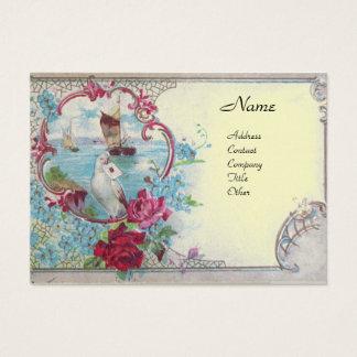 ROMANTICA, platinum metallic paper,silver Business Card