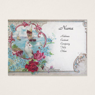ROMANTICA, platinum metallic paper,silver Business Card