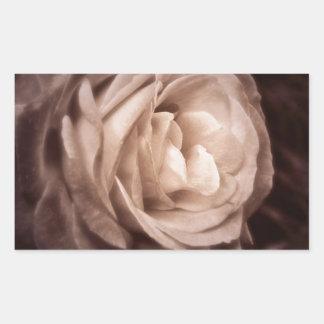 Romantica- this rose says love rectangular sticker