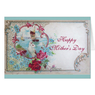 ROMANTICA / WHITE DOVE WITH LETTER MOTHER'S DAY CARD