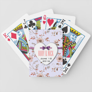 RomanticCharm Vintage Floral Wedding collection Bicycle Playing Cards