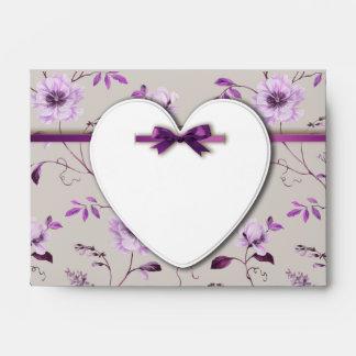 RomanticCharm vintage floral wedding collection Envelopes