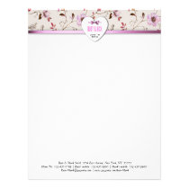 RomanticCharm vintage floral wedding collection Letterhead