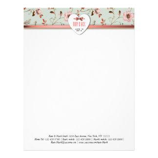 RomanticCharm Vintage Floral Wedding collection Letterhead