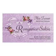 Romantico L tarjeta de visita
