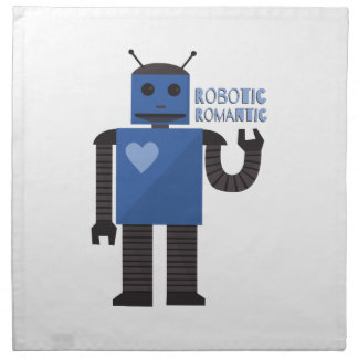 Romántico robótico servilleta de papel