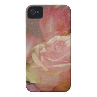 romántico subió ramo rosado de los rosas de las funda para iPhone 4 de Case-Mate