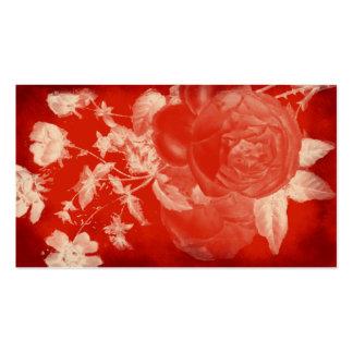 romántico subió sangre plantilla de tarjeta de negocio