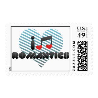 Romantics fan postage stamps