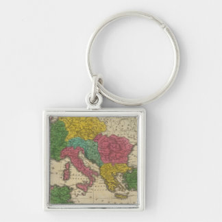 Romanum Imperium Silver-Colored Square Keychain