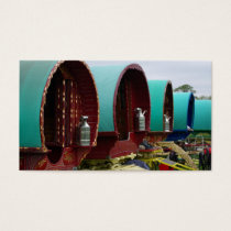 Romany gypsy caravans business card