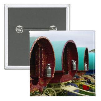 Romany gypsy caravans button