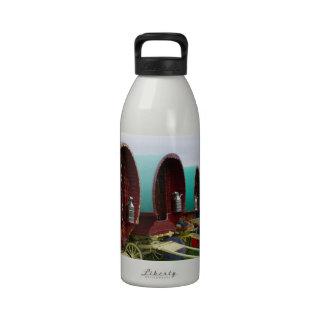 Romany gypsy caravans water bottle