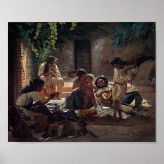 Romany Gypsy Family Poster