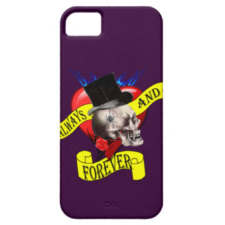 Romatic skull and heart tattoo design iPhone 5 case