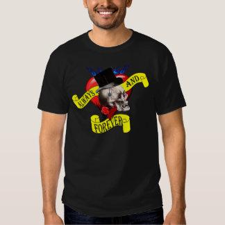 Romatic skull and heart tattoo design T-Shirt