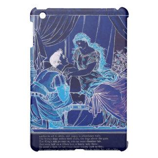 Romatic Sleeping Beauty Kiss Illustration iPad Mini Covers