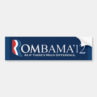 Rombama 2012: Como si haya mucha diferencia Pegatina Para Auto