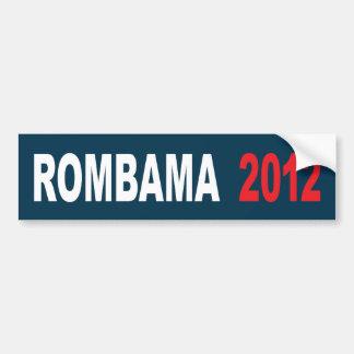 Rombama para el presidente 2012 pegatina para auto
