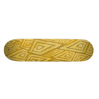 Romboidal amarillo. Skateboard