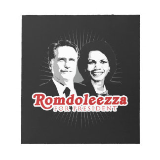 ROMDOLEEZZA FOR PRESIDENT png Memo Pads