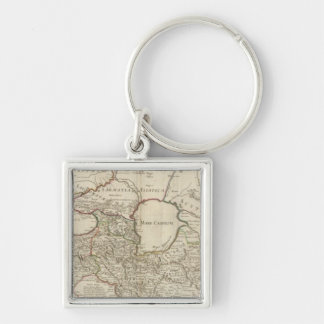 Rome 4 Silver-Colored square keychain
