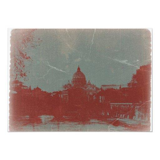 """Rome 5"""" X 7"""" Invitation Card"""